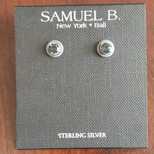 NWT Samuel B Sterling Silver Round Stud